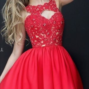 Sherri Hill red homecoming dress NEW 4